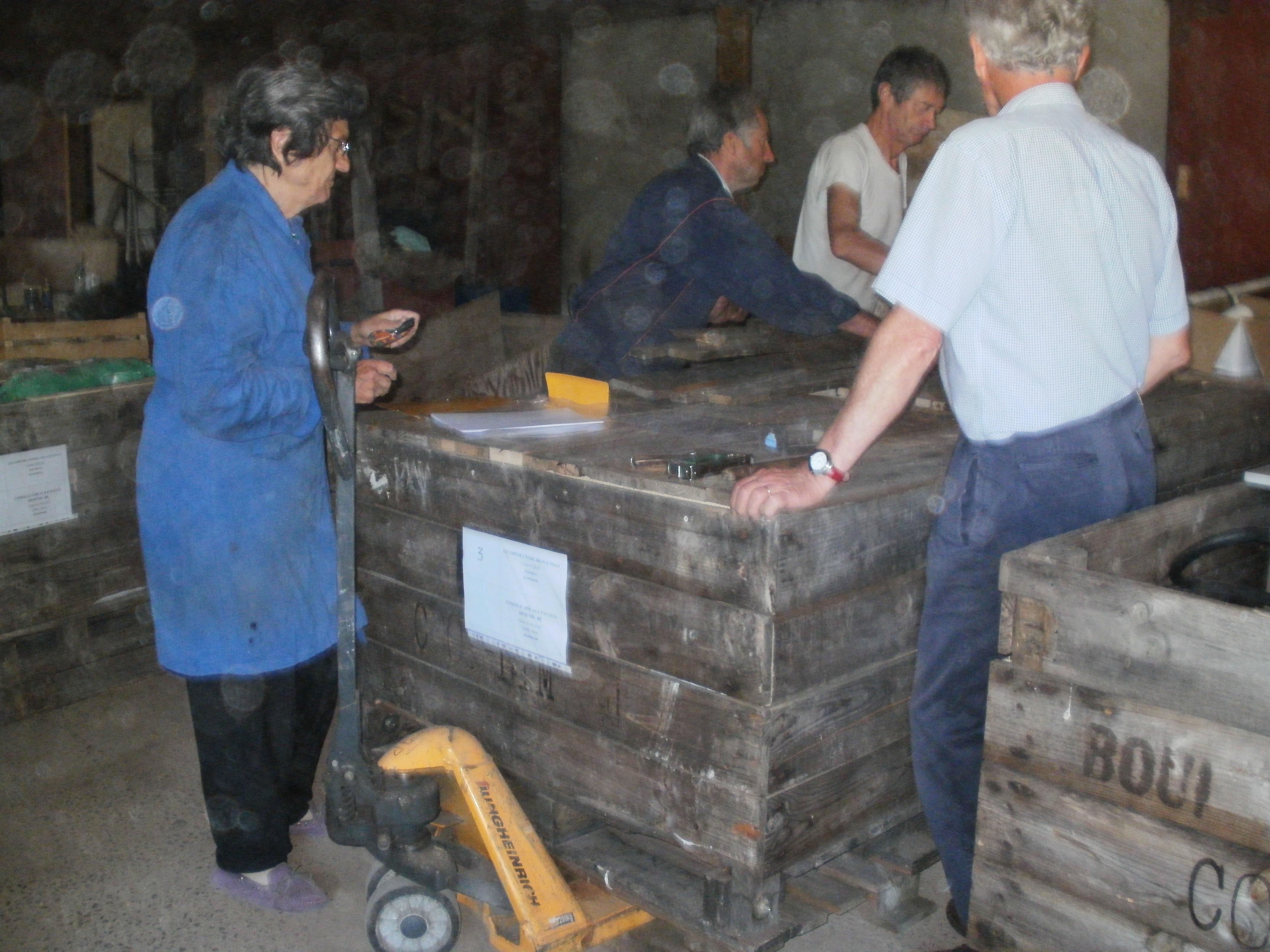 l'envoi de matériel pour le garage en grande préparation